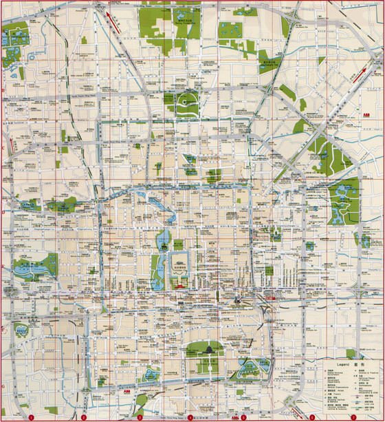 Detailed map of Beijing 4