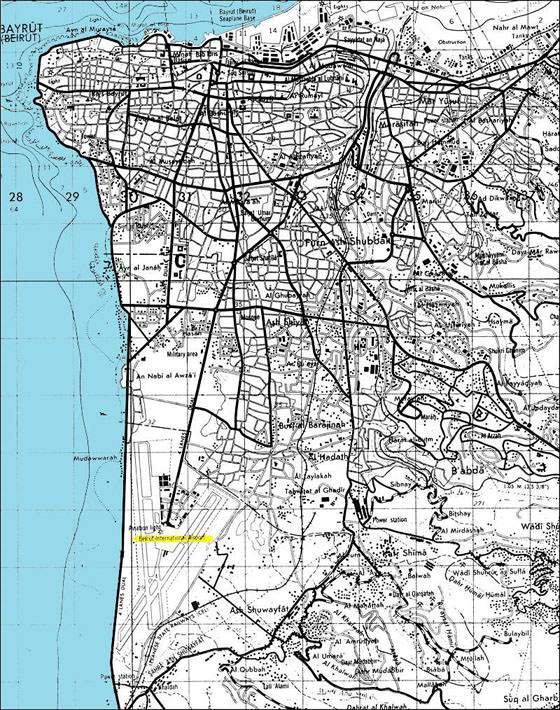 Detailed map of Beirut for print or download
