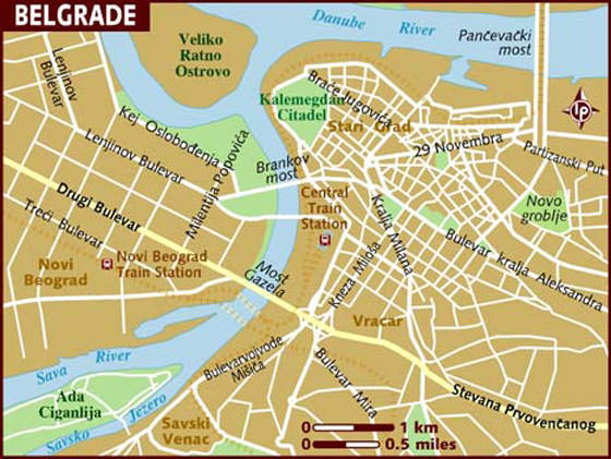 beograd mapa download Large Belgrade Maps for Free Download and Print | High Resolution  beograd mapa download