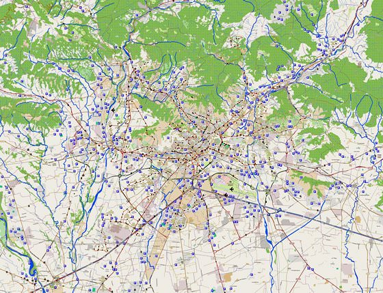 Hoge-resolutie kaart van Bergamo
