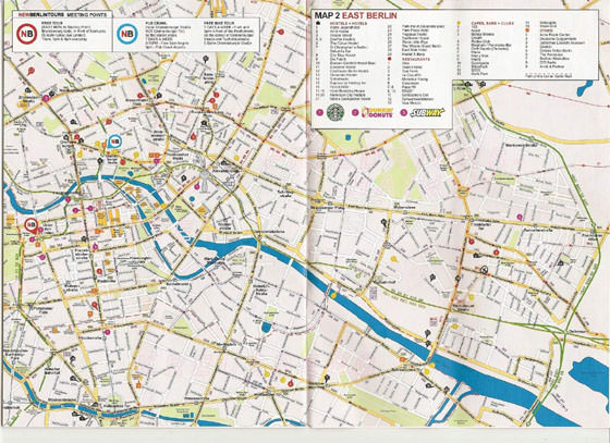 Large map of Berlin 1