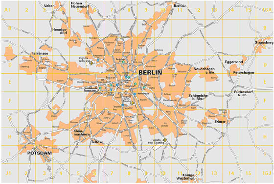 Detailed map of Berlin 2