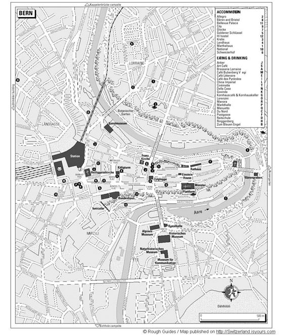 Large map of Bern 1