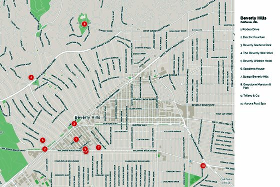Beverly Hills map 1