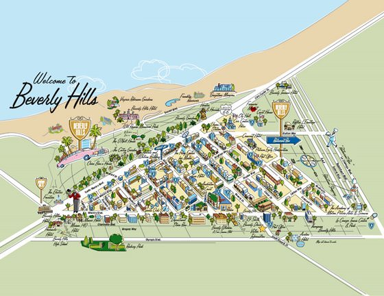 Detailed Map Of Beverly Hills 2