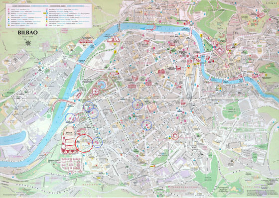 Large map of Bilbao 1
