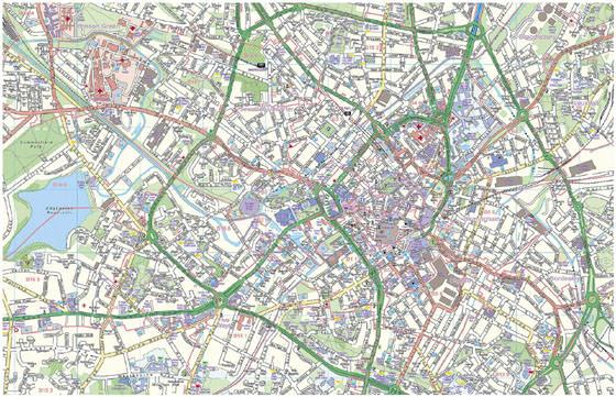 Детальная карта Бирмингема 1