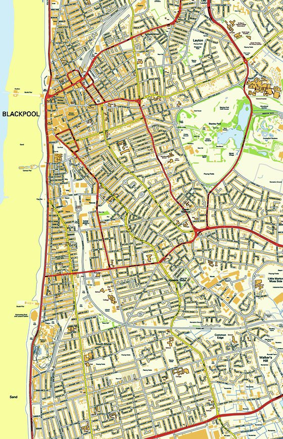 Blackpool Tram Map For Free Download Map Of Blackpool Tramway - Blackpool map