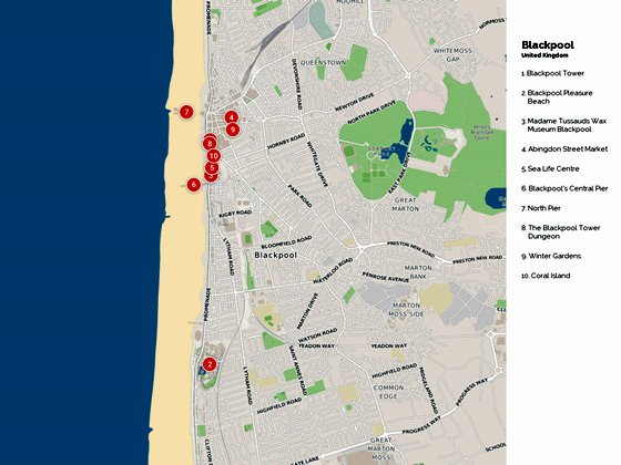 Blackpool Tram Map for Free Download Map of Blackpool Tramway Network