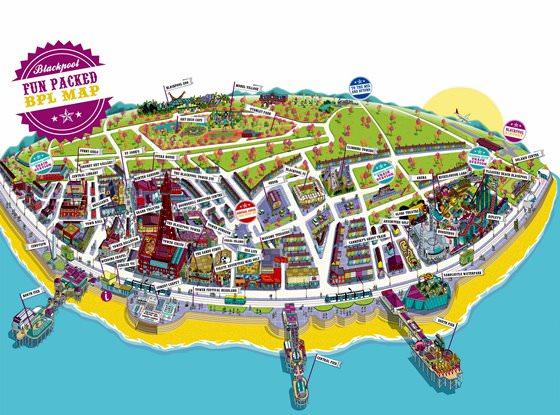 Gedetailleerde plattegrond van Blackpool