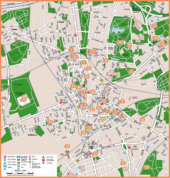 Mapa de Bochum  1