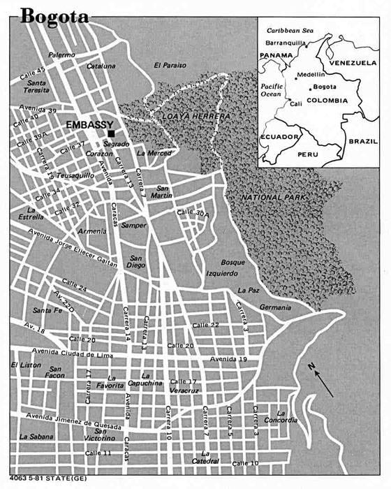 Детальная карта Боготы 1
