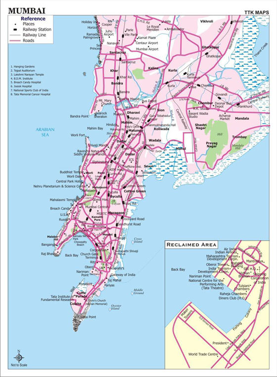 Large map of Bombay 1