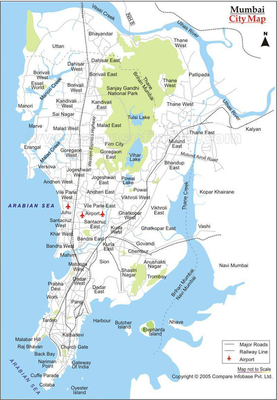 Detailed map of Bombay 2