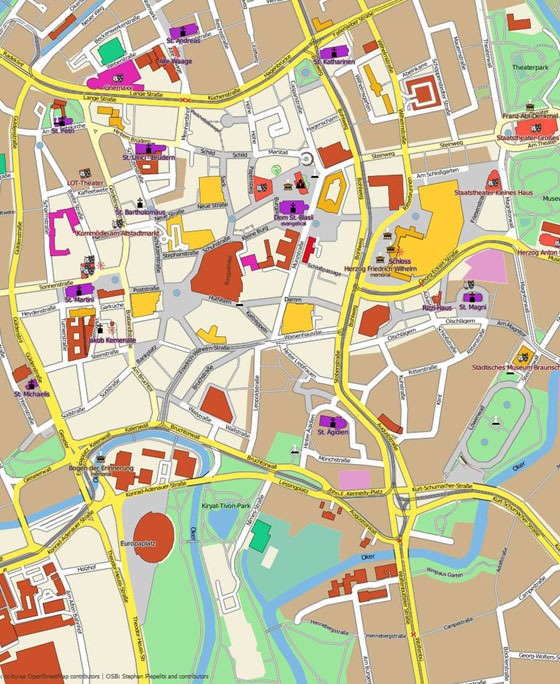 Large map of Braunschweig 1