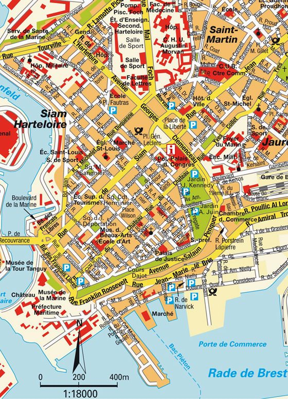 Large map of Brest 1