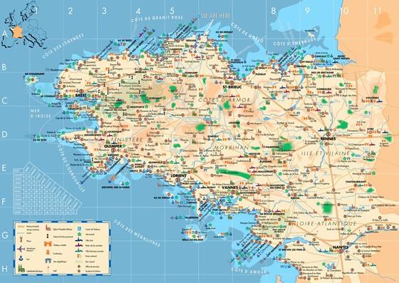 Große Karte von Bretagne 1