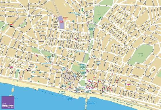 High-resolution map of Brighton for print or download