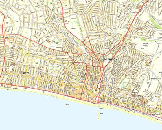 Detailed map of Brighton 2