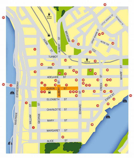 Large map of Brisbane 1