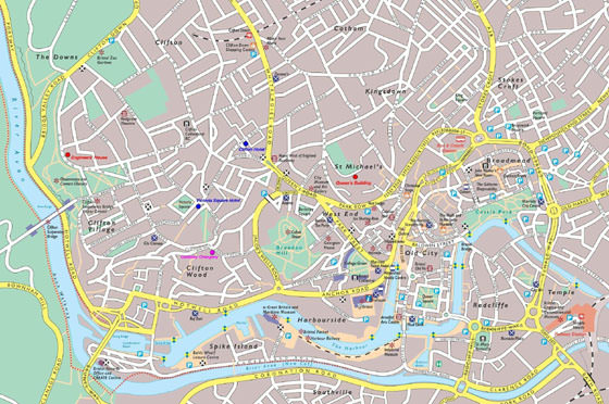 Detailed map of Bristol 2