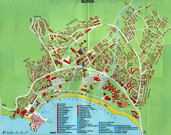 Карта Будвы 2