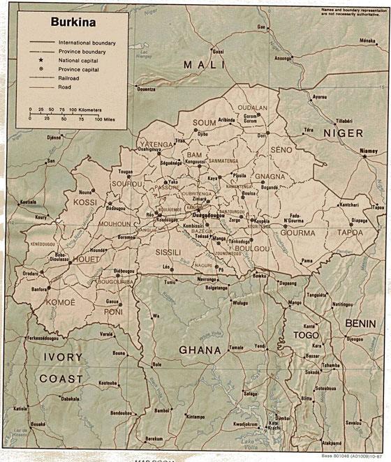 Stadtplan von Burkina Faso
