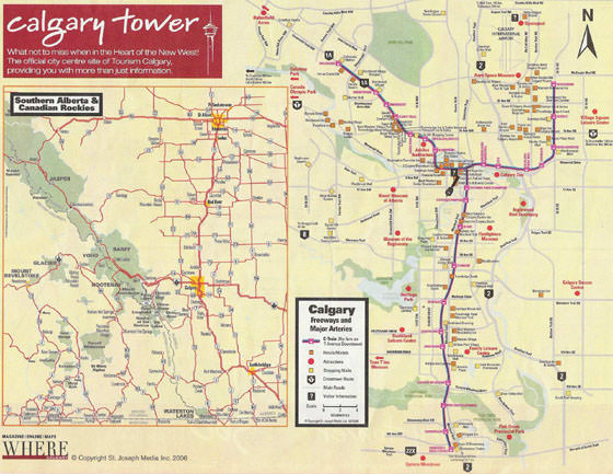 Calgary Subway Map.Calgary Subway Map For Download Metro In Calgary High Resolution