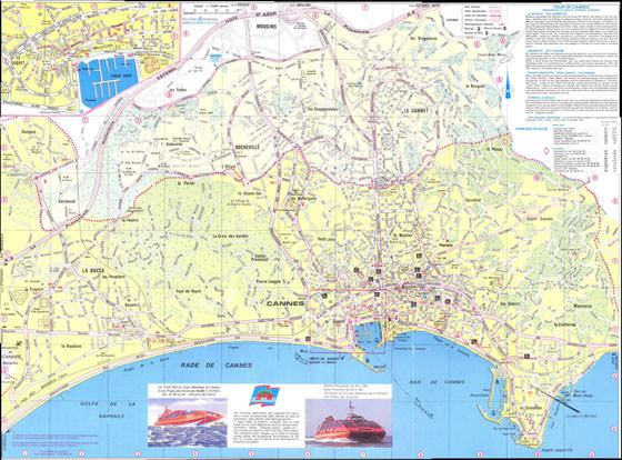 Large map of Cannes 1