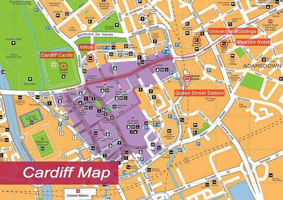 Карта Кардиффа 1