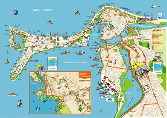 Large map of Cartagena 1
