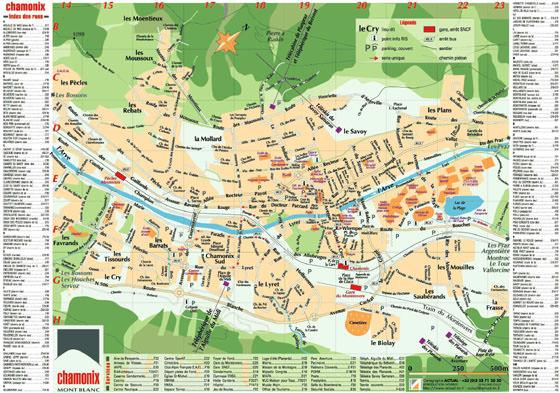 Große Karte von Chamonix-Mont-Blanc 1