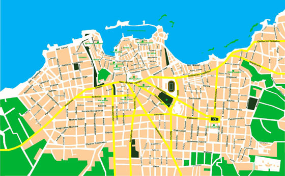 Large map of Chania 1