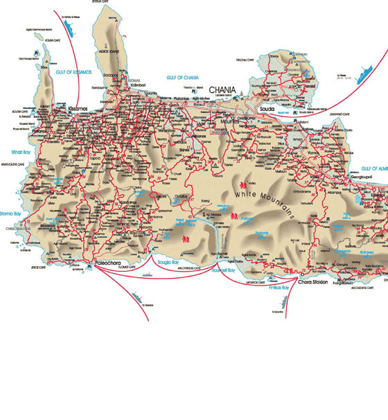 Detailed map of Chania 2