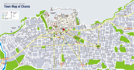 Large map of Chania 3