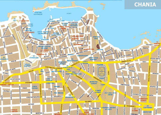 Detailed map of Chania 4