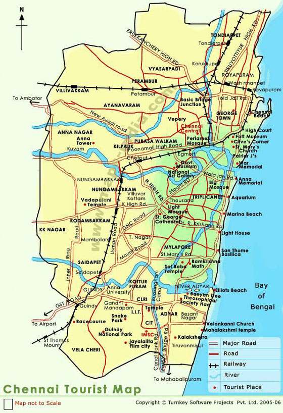 Large Chennai Maps For Free Download And Print High