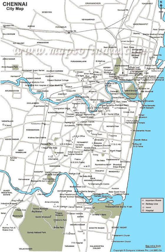 Mapa de Chennai  2