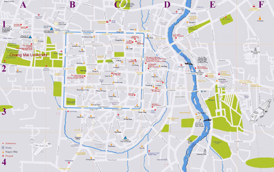 Map of Chiang Mai, Thailand