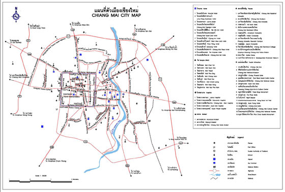 Detailed map of Chiang Mai 2