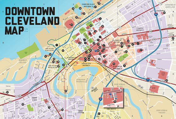 Large map of Cleveland 1