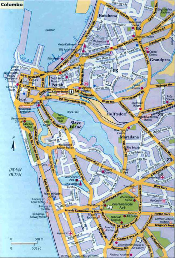 Large map of Colombo 1