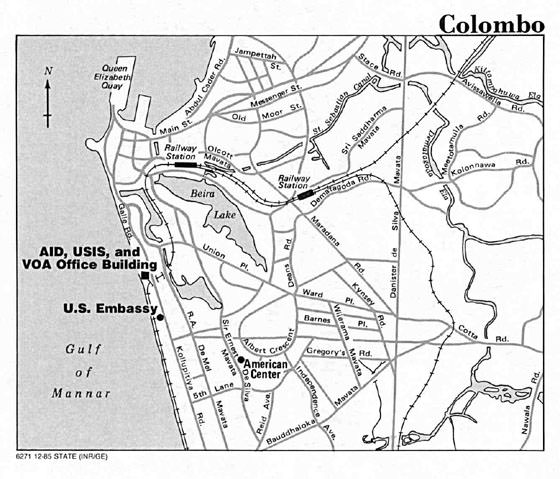 Detailed map of Colombo 2