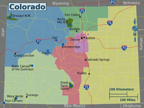Karte von Colorado 1