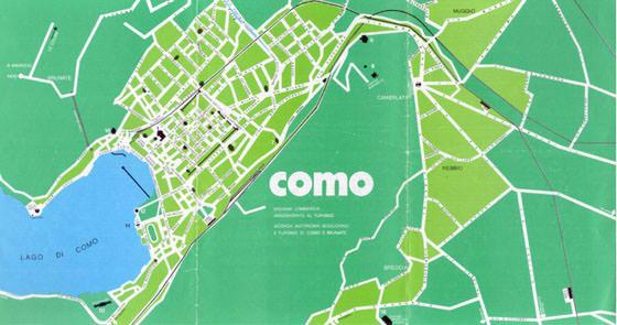 Gedetailleerde plattegrond van Como