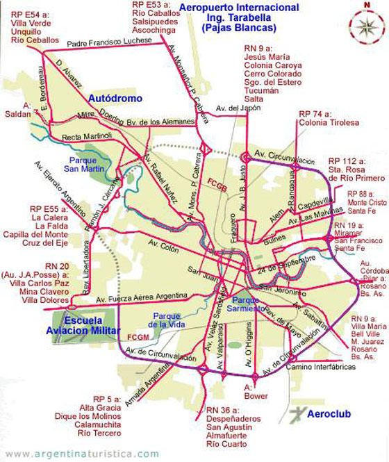 Large Cordoba Maps For Free Download And Print HighResolution - Argentina map cordoba