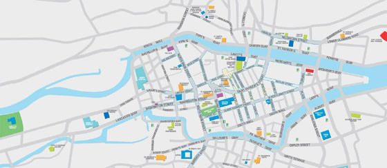 High-resolution map of Cork for print or download