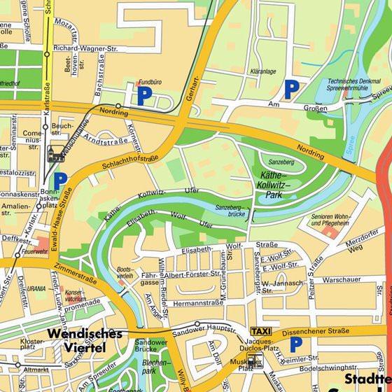 Карта Коттбуса 2