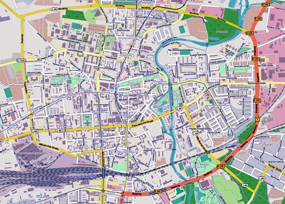 Карта Коттбуса 3