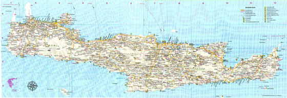 Detailed map of Crete 2